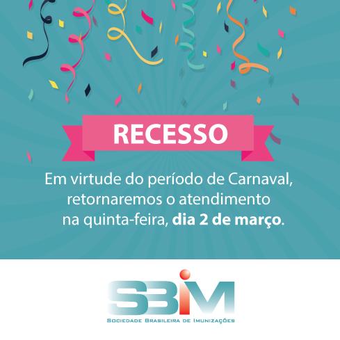 Aviso de recesso durante o Carnaval - 2017